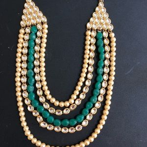 Heavy necklace and earrings